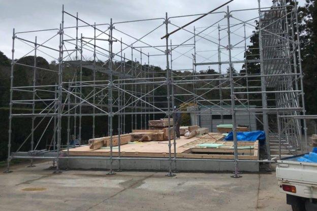 山口県萩市で新築工事足場施工は宇畑工業